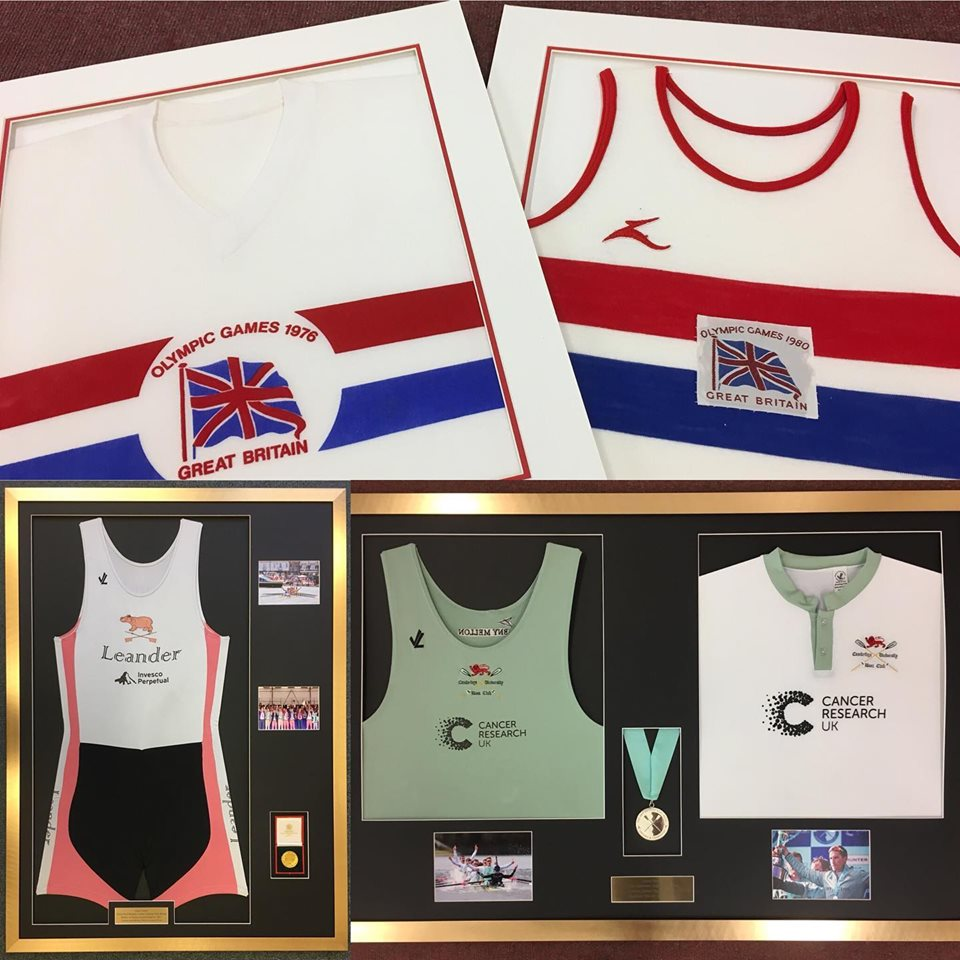 1976 Olympic Games Great British jerseys in white frames